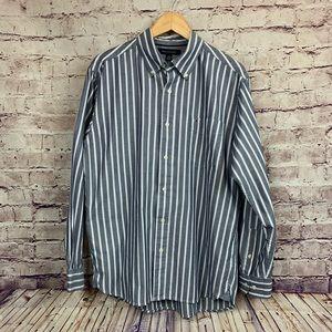 Tommy Hilfiger Blue Striped Button Front Shirt